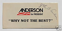 John Anderson signed campaign lit_Bgame1980