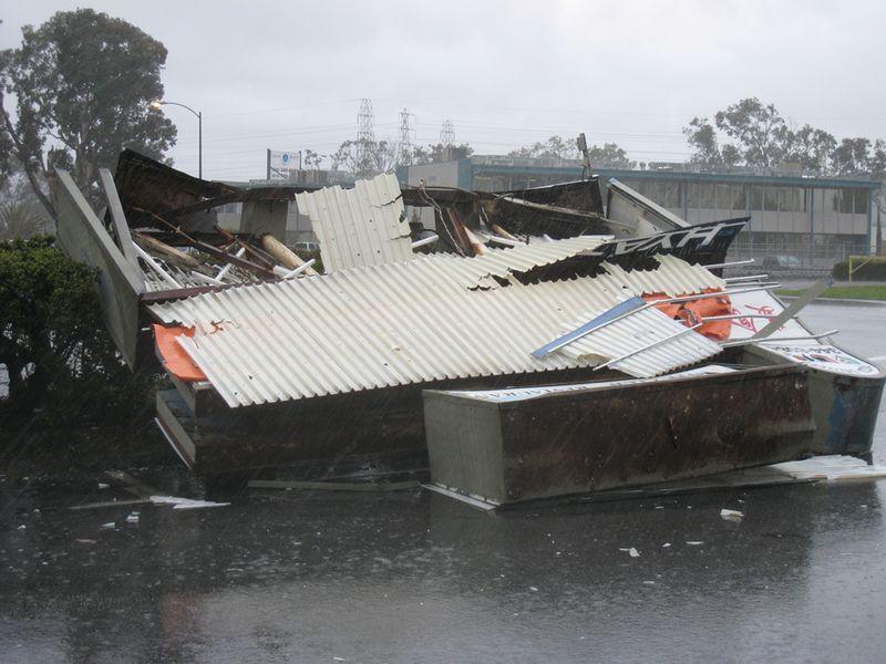 Cinema sign destroyed 1