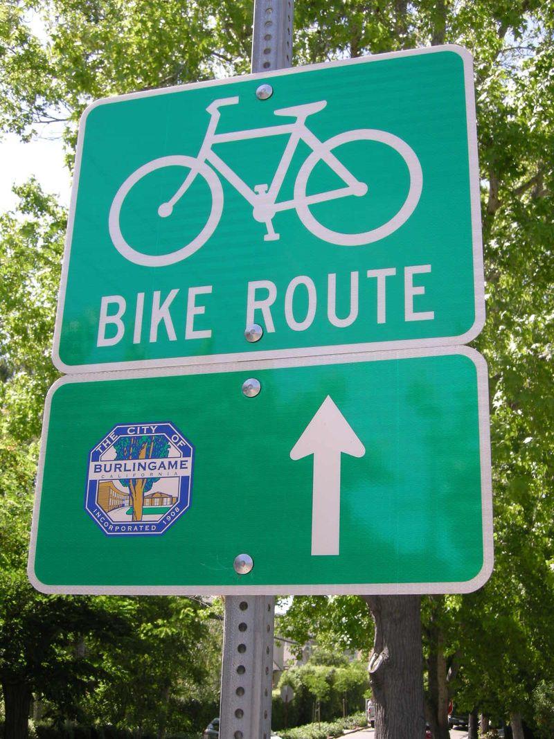 Bgame Bike Route sign