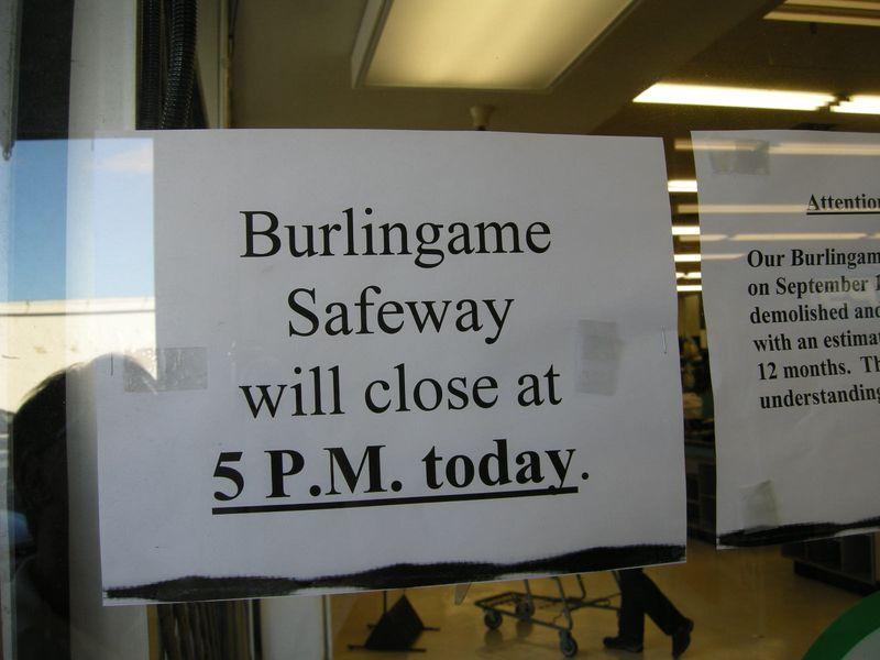 Safeway close at 5pm