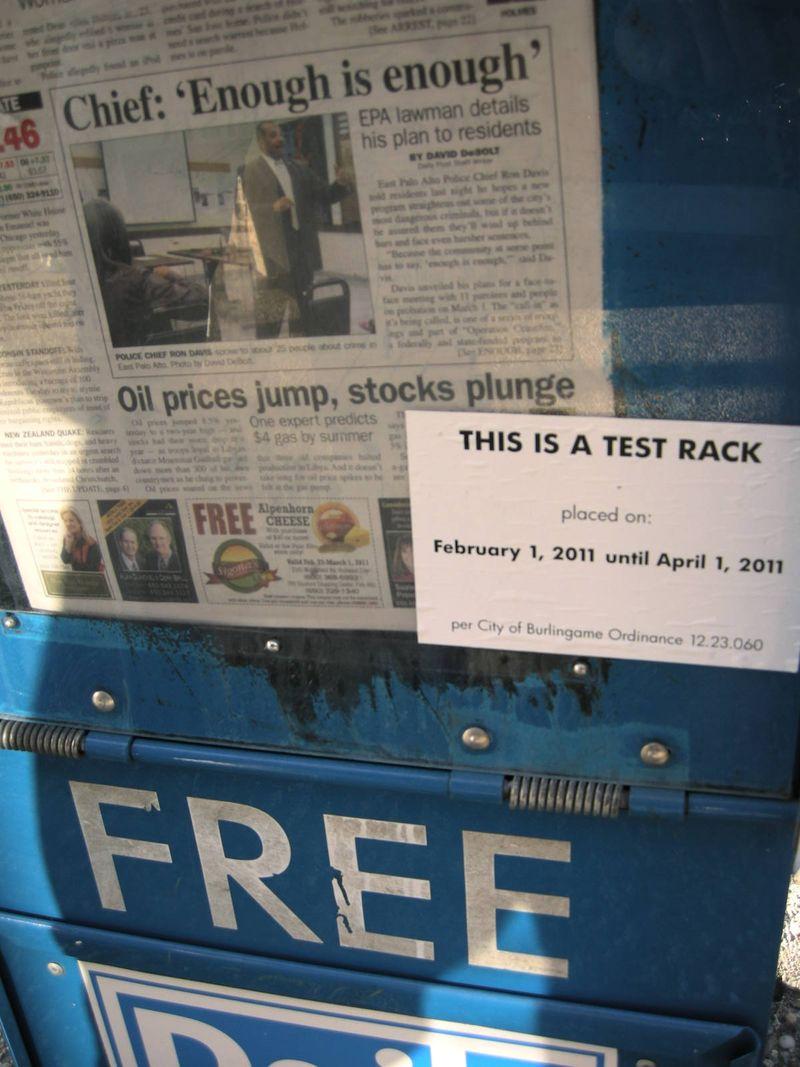 Post test rack