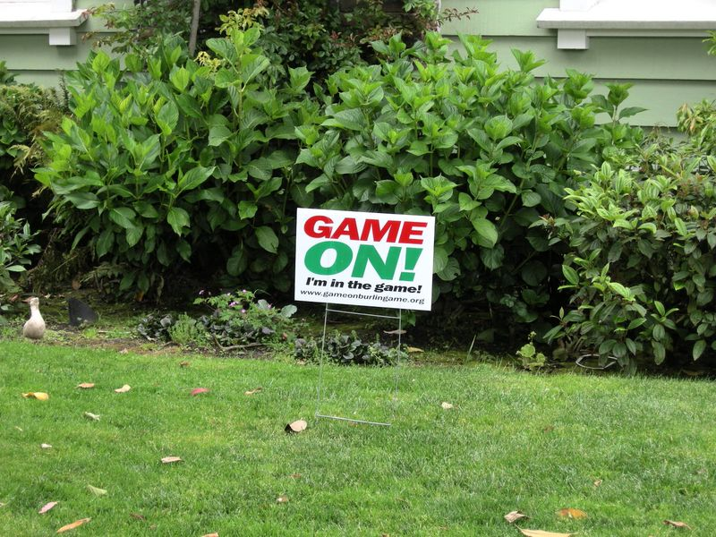 Game On lawn sign