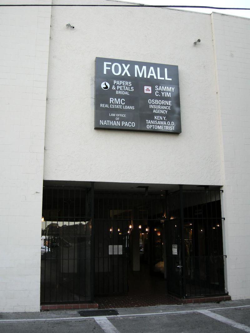 Fox mall back entrance