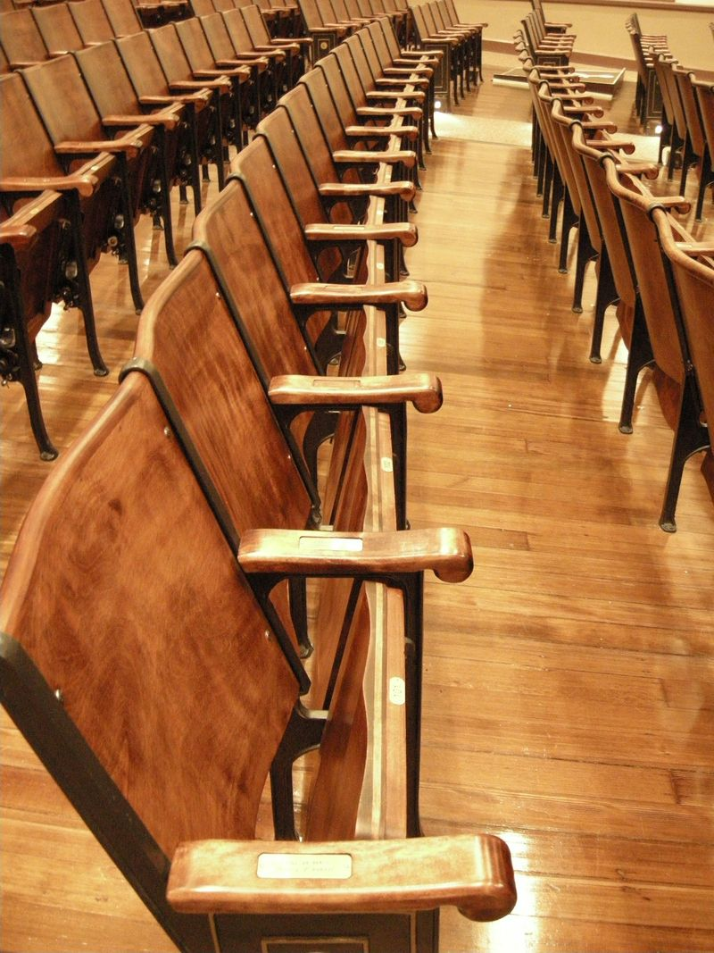 Auditorium seats BHS refurb