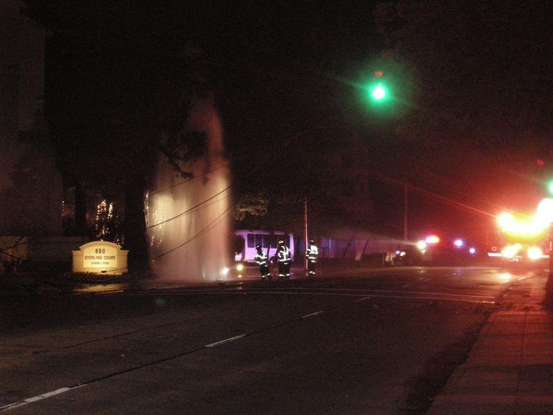 Drunken Hydrant accident