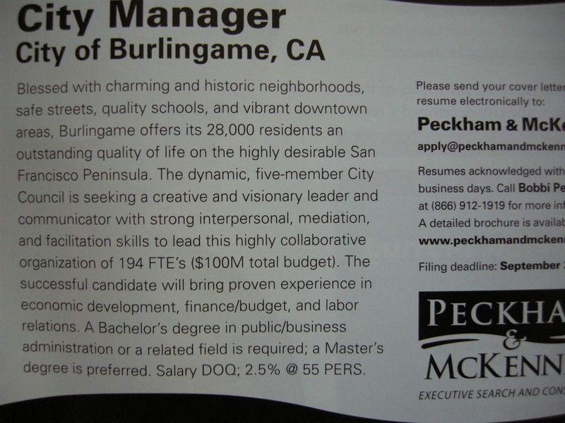 City Manager ad