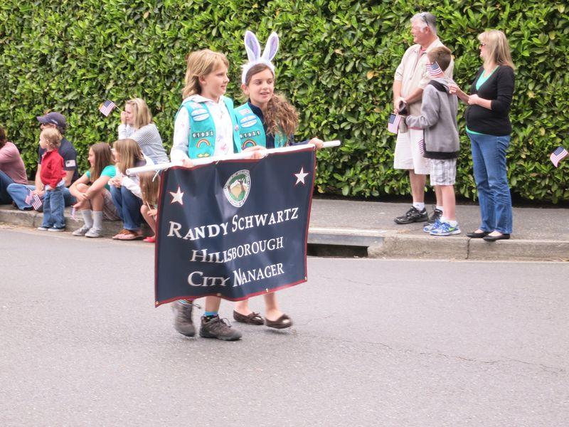 Randy Schwartz parade sign