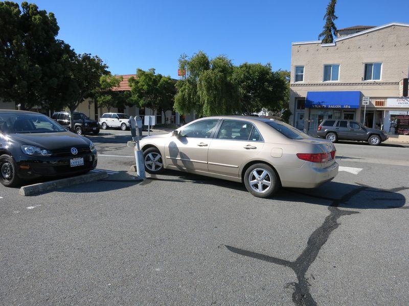 Parking between the lines