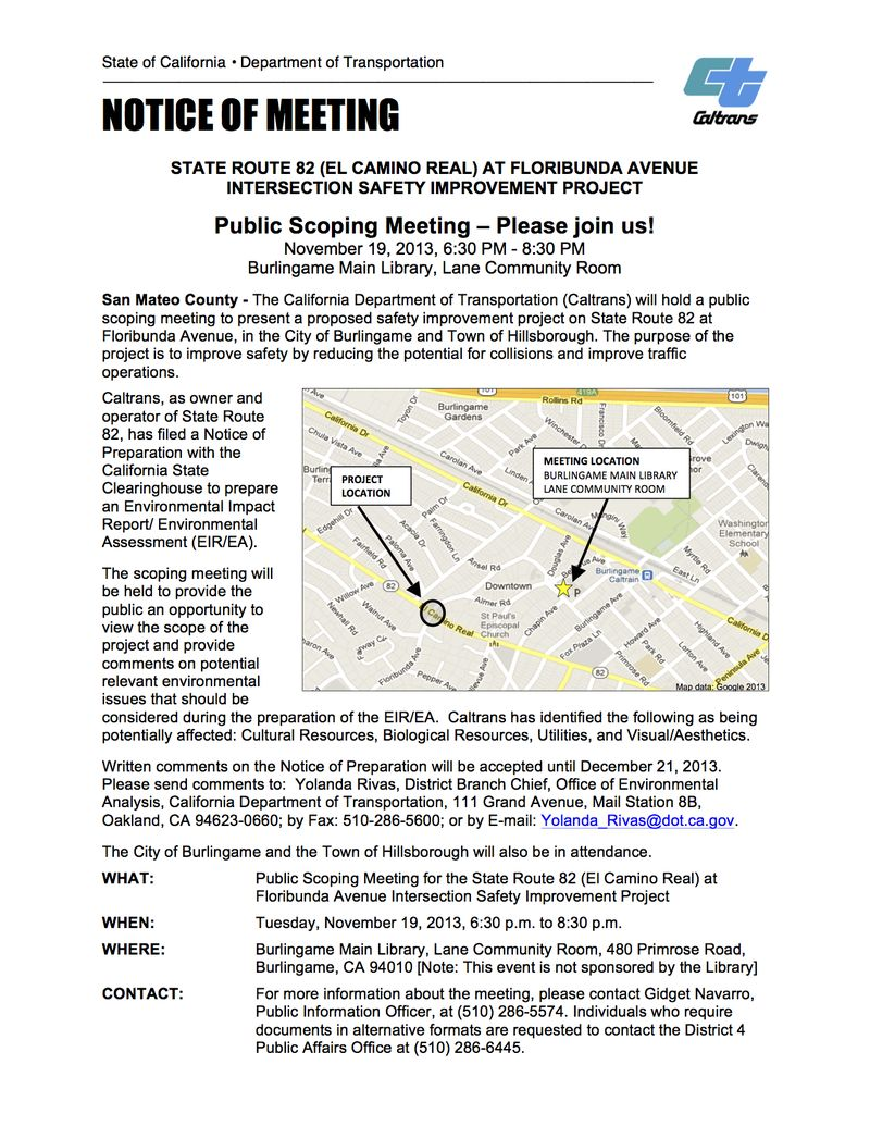 SM-82 El Camino Real at Floribunda Ave Nov 19 MTG FLYER LIBRARY Review_ ...