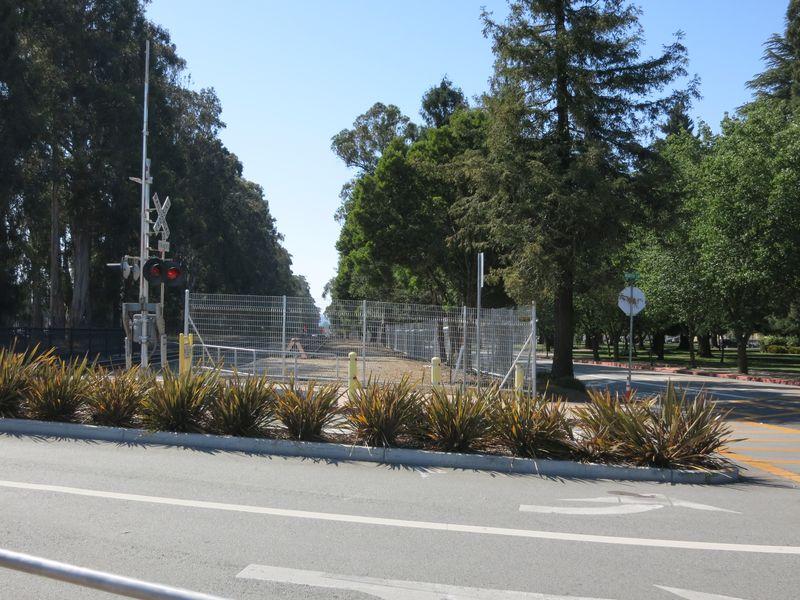 Caltrain fence