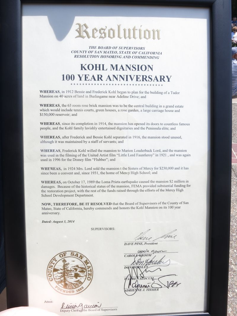 Kohl 100th resolution