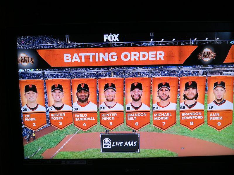 Giants 2014 lineup