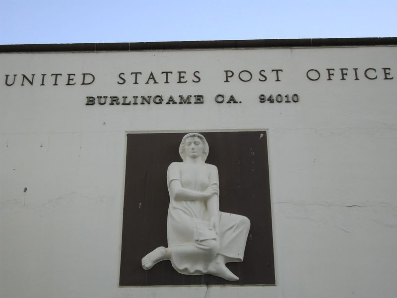 Post Office back sculpture