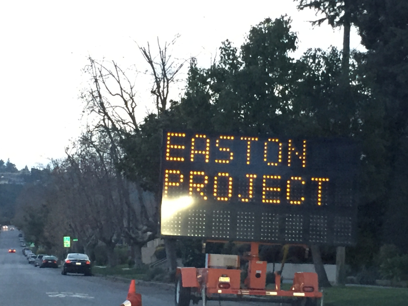 Easton Project sign