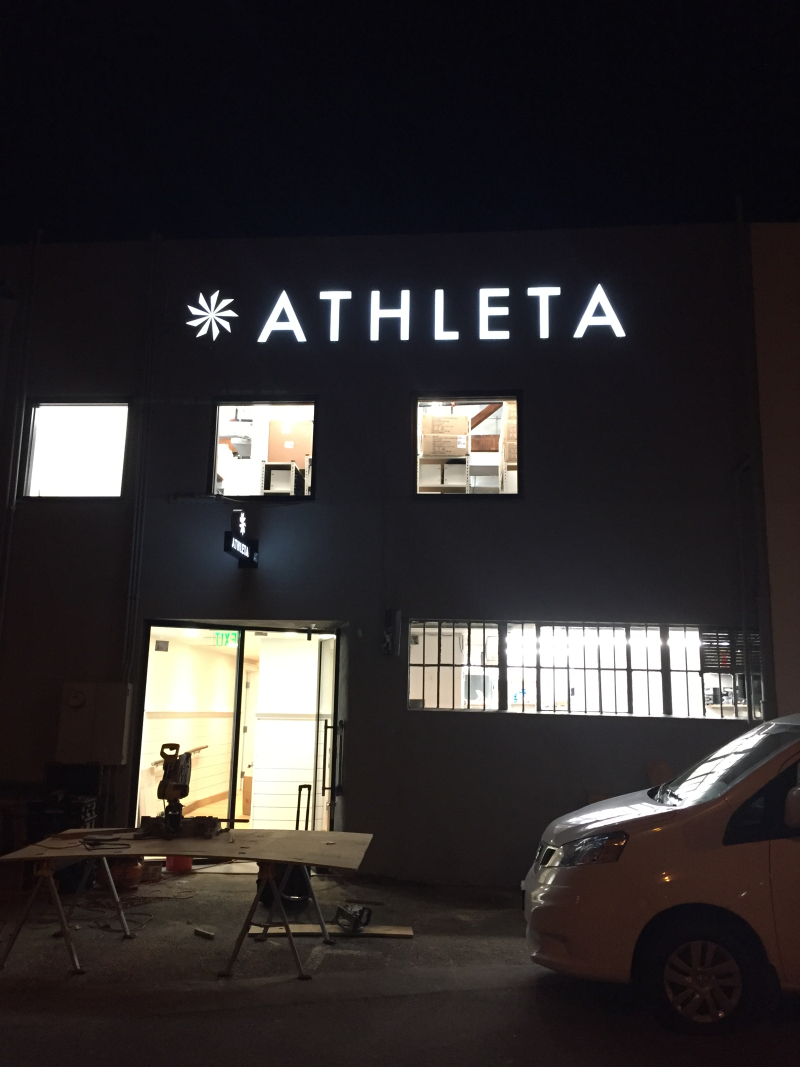 Giant Athleta sign