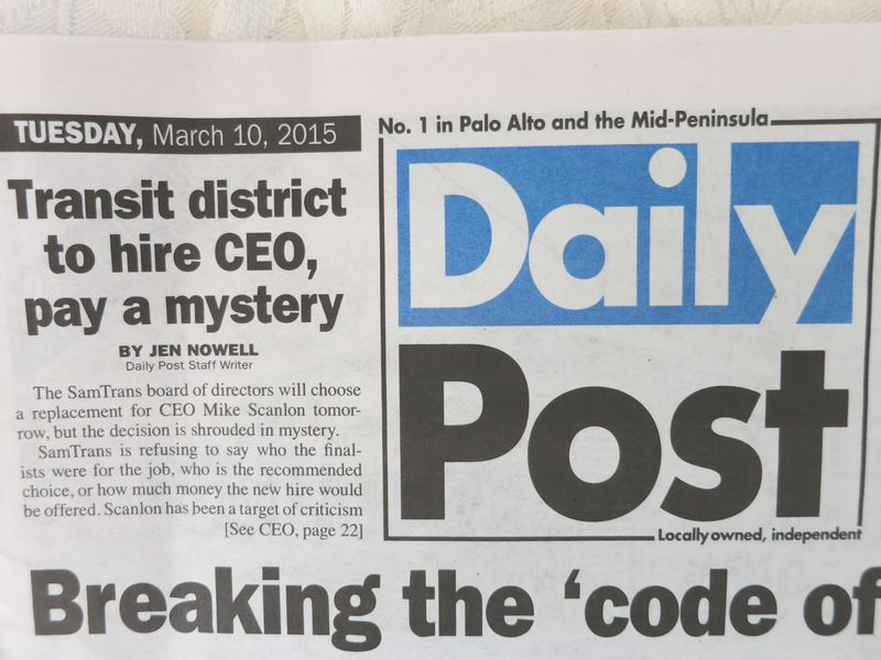 Samtrans Mystery CEO article