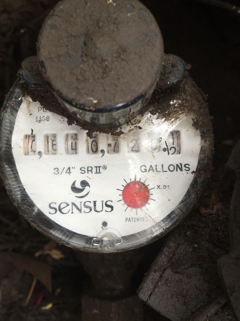 Water meter face