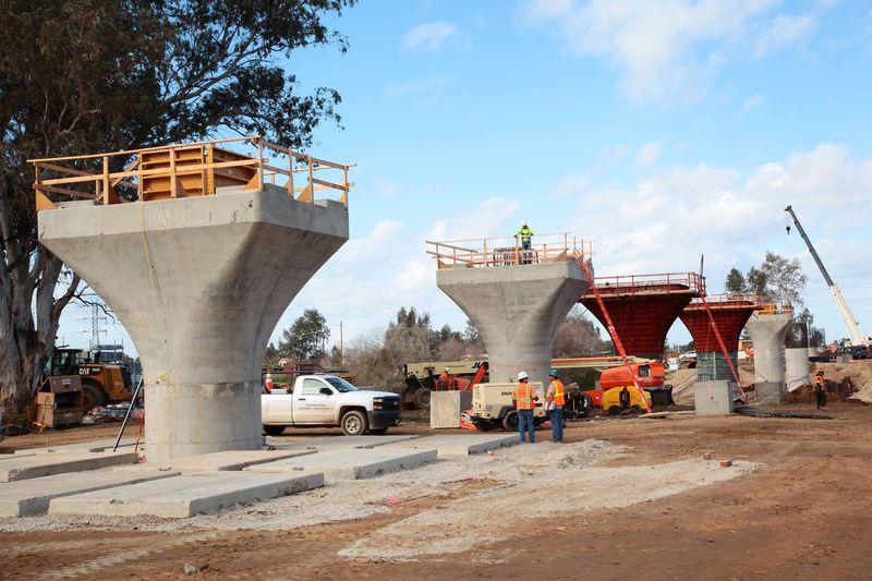 HSR Fresno concrete