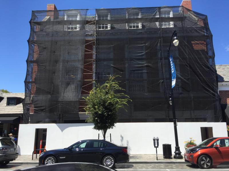 Old Malouf scaffolding
