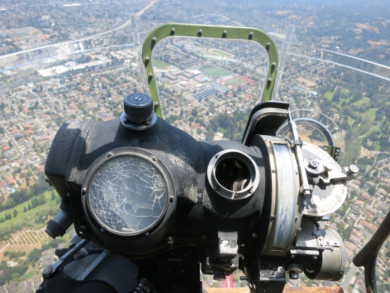B-17 nose gunner view