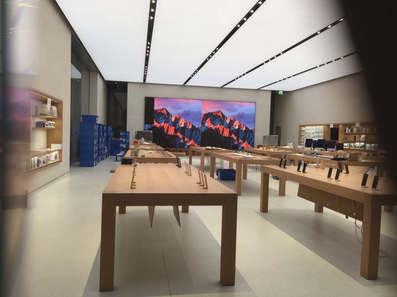New Apple store interior