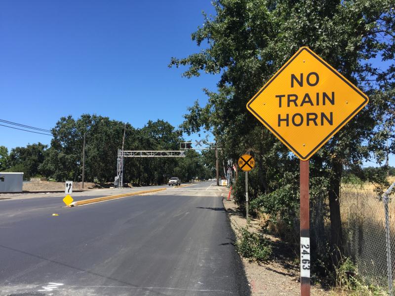 Fulton No Train Horn crossing