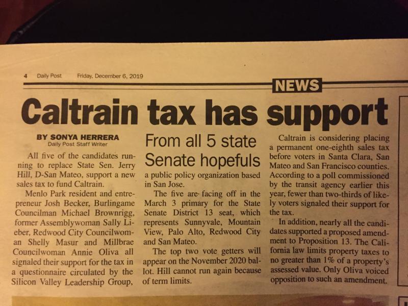 Caltrain tax