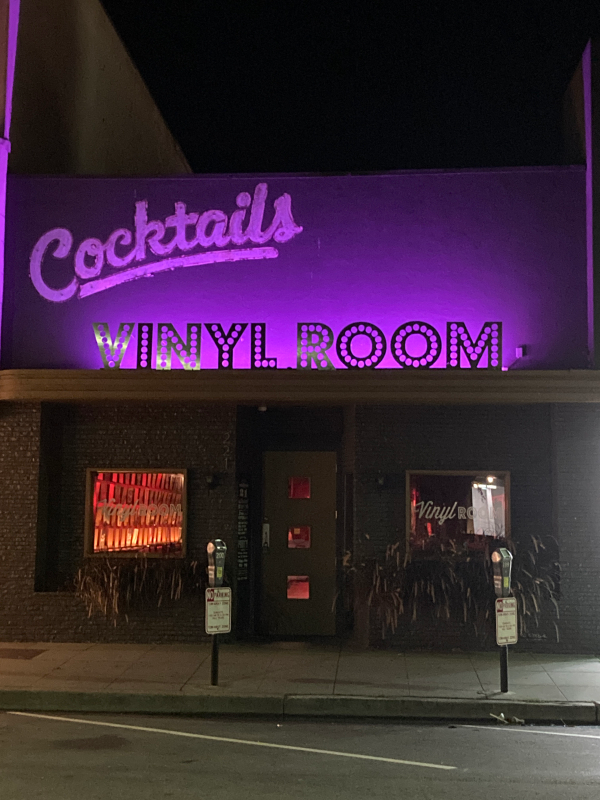 Vinyl Room closed and purple