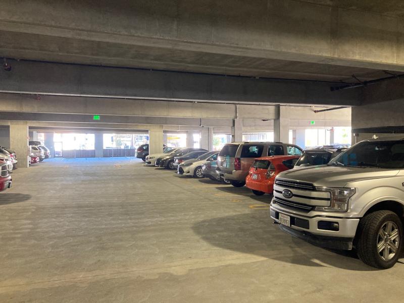 Parking structure gnd floor